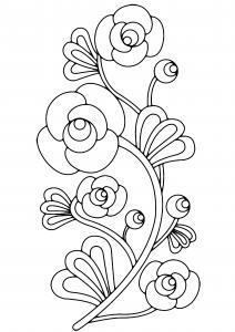 Fleurs 012 - motif à imprimer