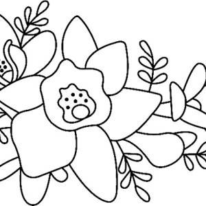 Fleurs 016 - motif à imprimer