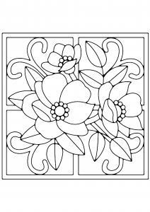 Fleurs 022 - motif à imprimer