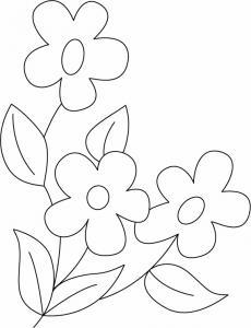 Fleurs 035 - motif à imprimer