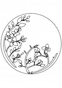 Fleurs 037 - motif à imprimer