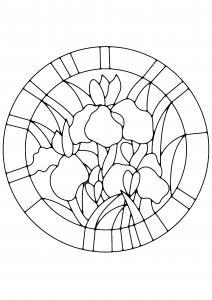 Fleurs 038 - motif à imprimer