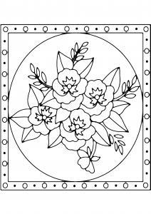 Fleurs 039 - motif à imprimer