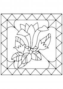 Fleurs 040 - motif à imprimer
