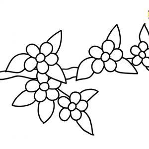 Fleurs 043 - motif à imprimer