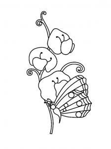 Fleurs et papillons 03 - motif à imprimer
