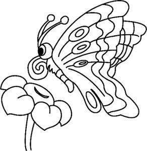 Fleurs et papillons 10 - motif à imprimer