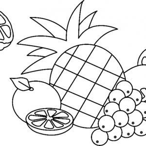Fruits 01 - motif à imprimer