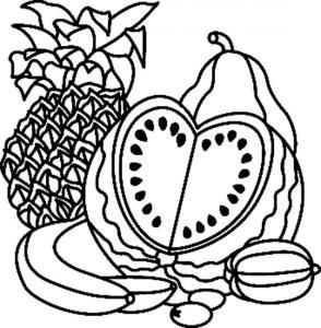 Fruits 02 - motif à imprimer