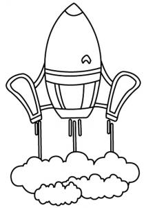 Fusée 01 - motif à imprimer