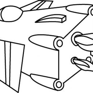 Fusée 02 - motif à imprimer
