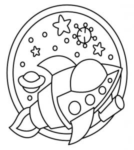 Fusée 03 - motif à imprimer