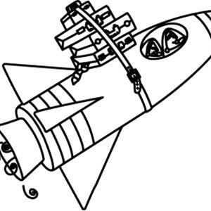 Fusée 05 - motif à imprimer