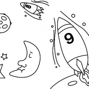 Fusée 06 - motif à imprimer