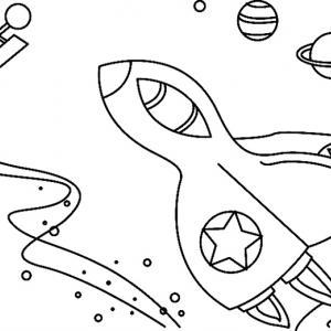 Fusée 07 - motif à imprimer