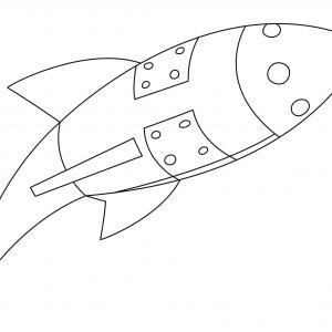 Fusée 09 - motif à imprimer
