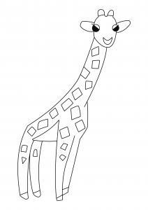 Girafe 03 - motif à imprimer