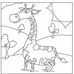 Girafe 04 - motif à imprimer