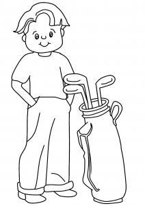 Golfeur 01 - motif à imprimer