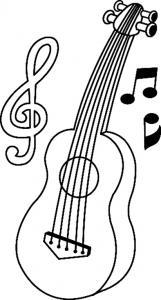 Guitare 01 - motif à imprimer