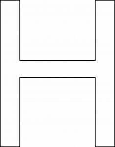 H majuscule - motif à imprimer