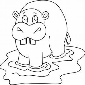 Hippopotame 07 - motif à imprimer