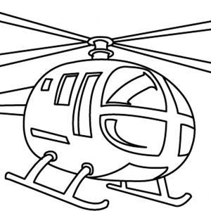 Hélicoptère 01 - motif à imprimer