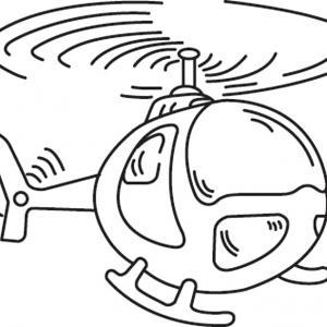 Hélicoptère 02 - motif à imprimer