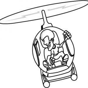 Hélicoptère 03 - motif à imprimer
