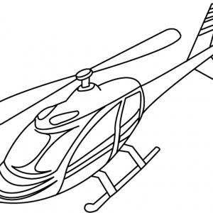 Hélicoptère 04 - motif à imprimer
