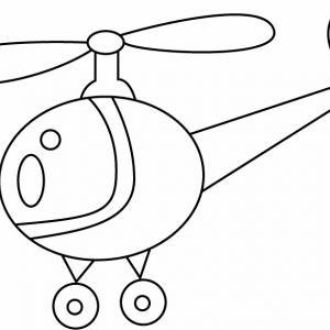 Hélicoptère 05 - motif à imprimer
