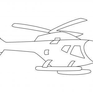 Hélicoptère 06 - motif à imprimer