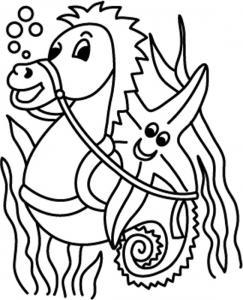 Hyppocampe 03 - motif à imprimer