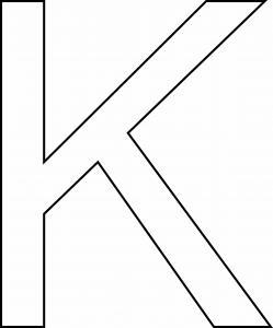 K majuscule - motif à imprimer