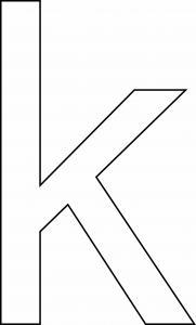 k minuscule - motif à imprimer