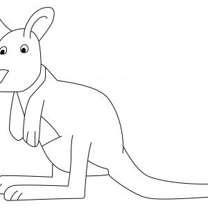 Kangourou 04 - motif à imprimer