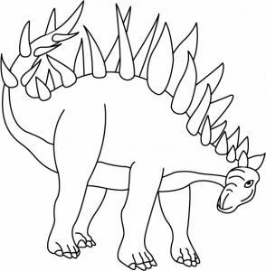 Kentrosaurus - motif à imprimer