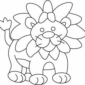 Lion 01 - motif à imprimer
