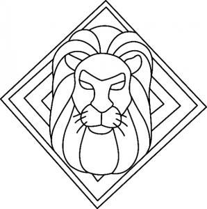Lion 02 - motif à imprimer