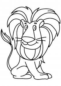 Lion 04 - motif à imprimer