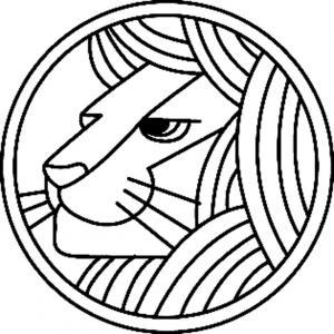 Lion 05 - motif à imprimer