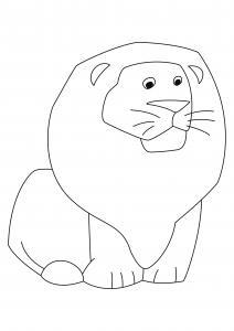 Lion 06 - motif à imprimer