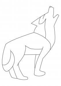 Loup 01 - motif à imprimer