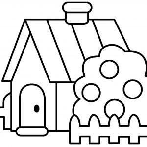 Maison 03 - motif à imprimer