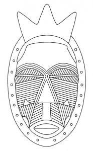 Masque 02 - motif à imprimer