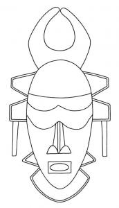 Masque 03 - motif à imprimer