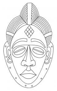 Masque 04 - motif à imprimer