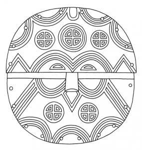 Masque 05 - motif à imprimer