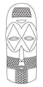 Masque 06 - motif à imprimer