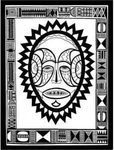 Masque 09 - motif à imprimer